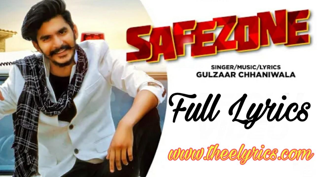 सफजोन लिरिक्स इन हिन्दी Safezone Lyrics in Hindi Haryanvi song - Gulzaar Chhaniwala