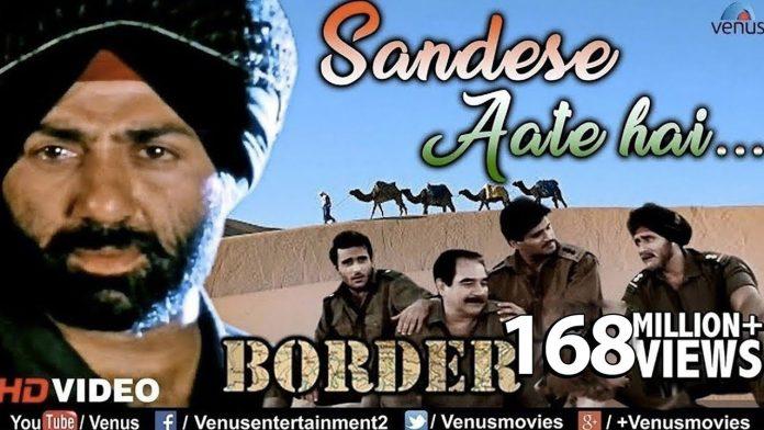 Sandese Aate Hai Hindi Lyrics in Hindi