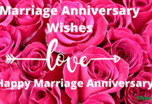 Marriage Anniversary Wishes in English