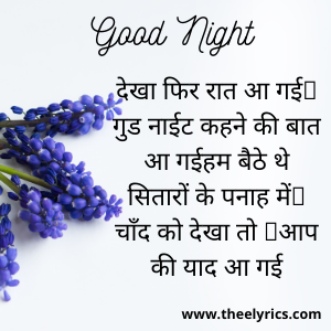 Good Night Quotes in Hindi for Girlfriend