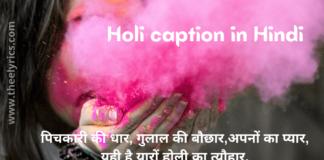 Holi caption in Hindi